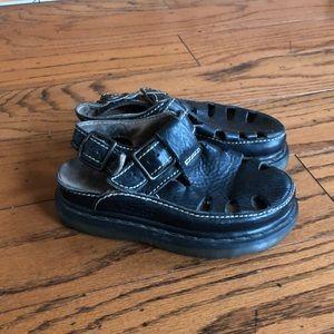 Dr Martens black leather Platform sandals sz 4